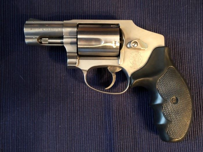 Smith & Wesson Model 640 .357 Magnum J frame revolver with stainless finish and Pachmayr grip. $ 500