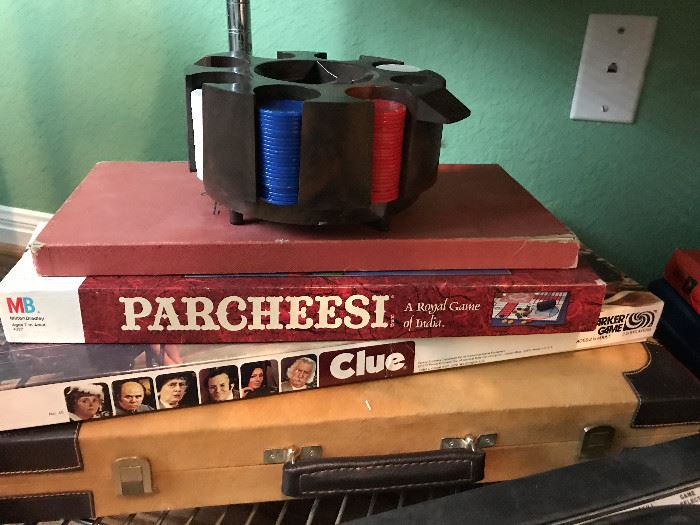 Parcheesi, Clue, Poker chips