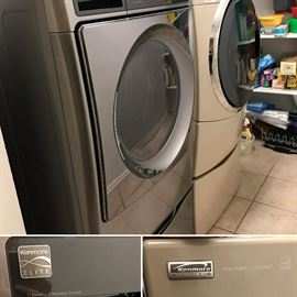 Kenmore Elite washing machine and GAS dryer. Around 4 years old. $250 each. Excellent working condition. Sits on a stand.