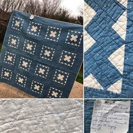 Hand-made quilt. Excellent condition. $125