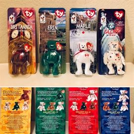 1999 Ty McDONALDS Mini Beanie Baby International Bears (Complete Set of 4) Retired.  Set of 4 @ $20. We have 5 sets of 4.