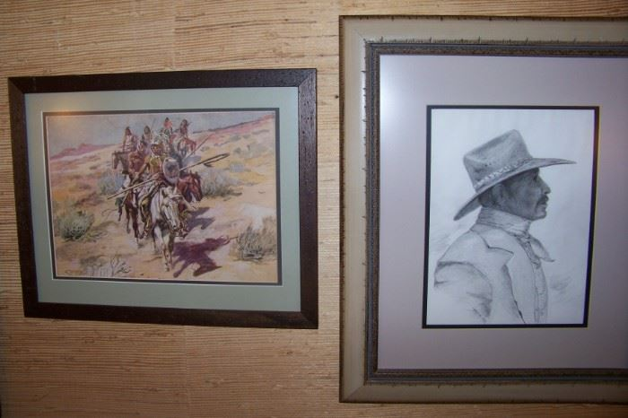 Just a few of the wonderful western art in this sale!