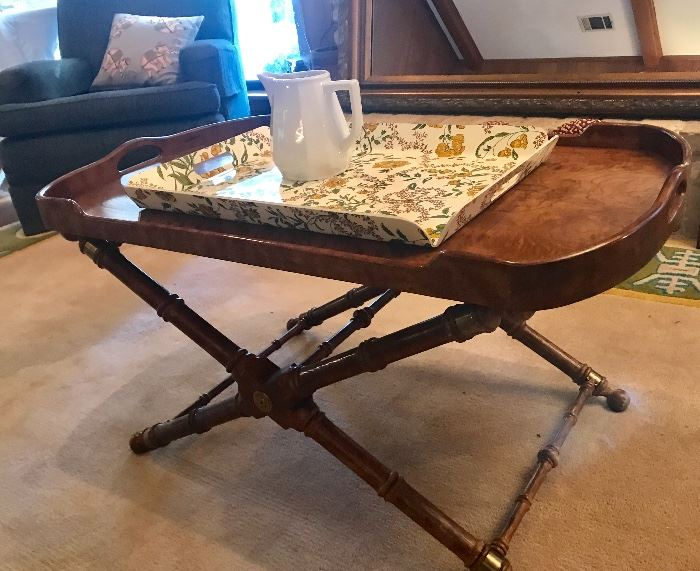 Fabulous High or low table  removable serving tray