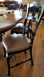 Black Country French Dining Side Chair