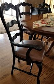 Black Country French Dining Captains Chair
