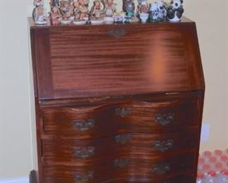 Chest with Writing Desk, Hummels and other Decorative Pieces