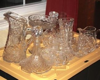Assorted Decanters, Pitchers and Vases