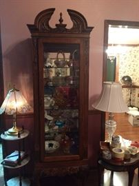 Beautiful lighted curio cabinet