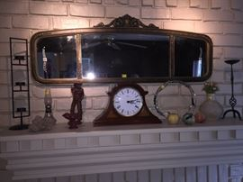 Antique mantel mirror