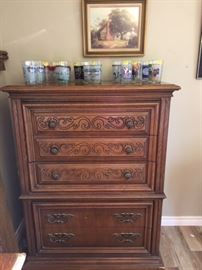 Broyhill dresser and queen headbaord