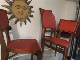 Mid Century Modern 3 folding chairs