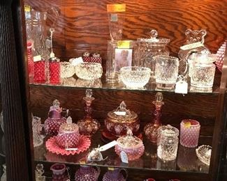 Waterford and Cutglass , Cranberry Glass