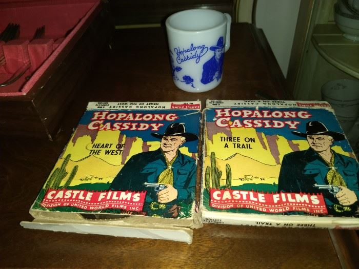Hopalong Cassidy Films and coffee mug
