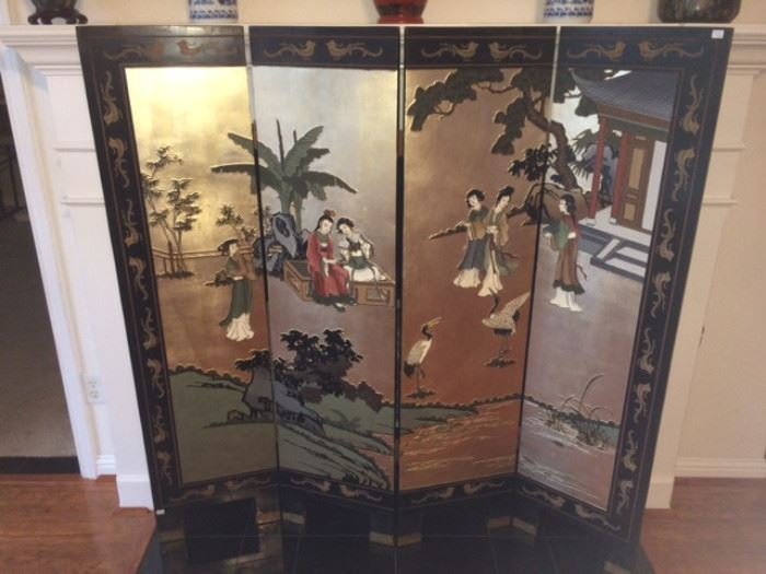 5 ft 4 panel Chinese screen