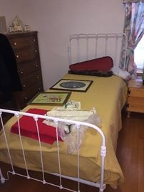 Iron frame twin bed