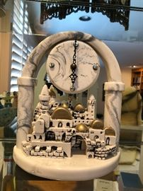 Marble clock of Jerusalem