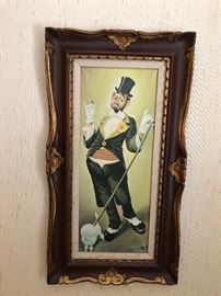 Vintage Clint Bradley Clown Painting