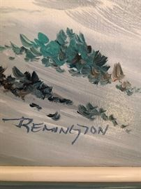 Oil Painting signed Remington