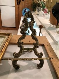 Vintage Brass Book/ Frame holder