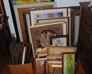 Lots of frames and art work