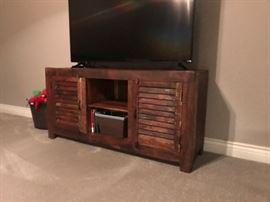 Rustic, Antique  Worn TV Stand