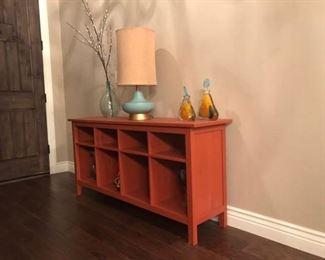 Rustic, Burnt Orange Table