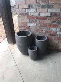 Various size pots
