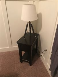 Small End Table with lamp