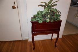 Plant stand and greenery
