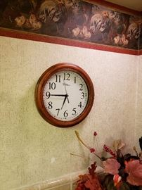 Small wooden wall clock