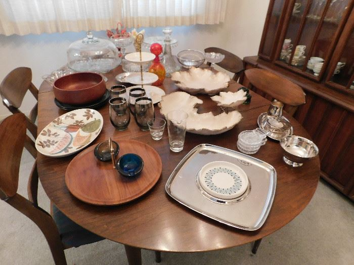 Table and chairs by Huntley Furniture of  Winston-Salem, North Carolina