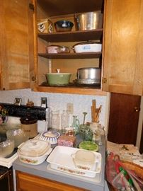 Vintage Pyrex and bakeware