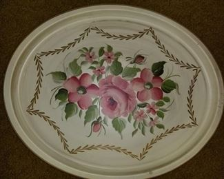 Great vintage painted tray