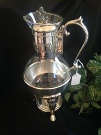 Silver plate coffee server and warmer