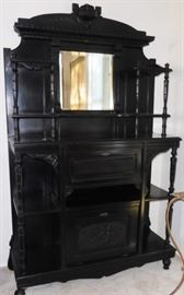 Black painted Victorian drop front desk