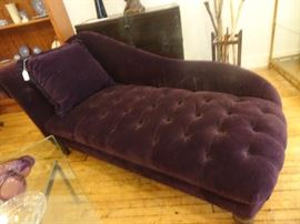Purple Tuffed Chaise Lounge