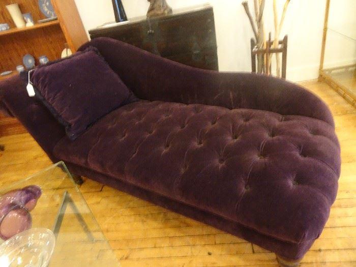 Purple Tuffed Chaise Lounge