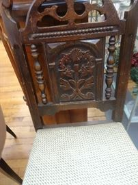 Ornately Carved Antique Accent Chair