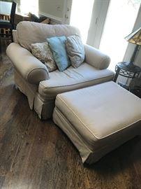 Overstuffed Chair / Ottoman $ 164.00