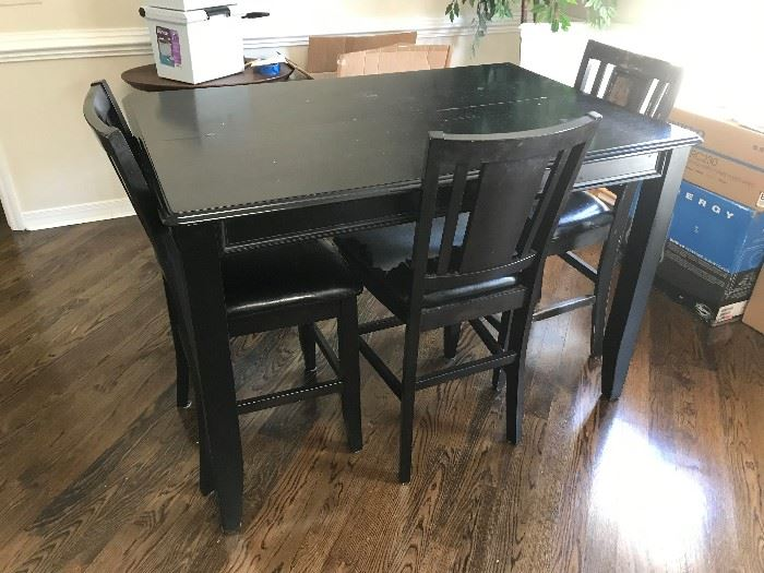 Pub Table / 4 Chairs $ 220.00 (chairs need recovering)