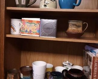 Art pottery coffee cups