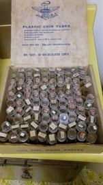 U.S. PENNEY COLLECTION - INDIAN HEAD/WHEAT - 1909 V.D.B & OTHER KEY DATES; LOTS OF EARLY PRE '59 MINT ROLLS.
