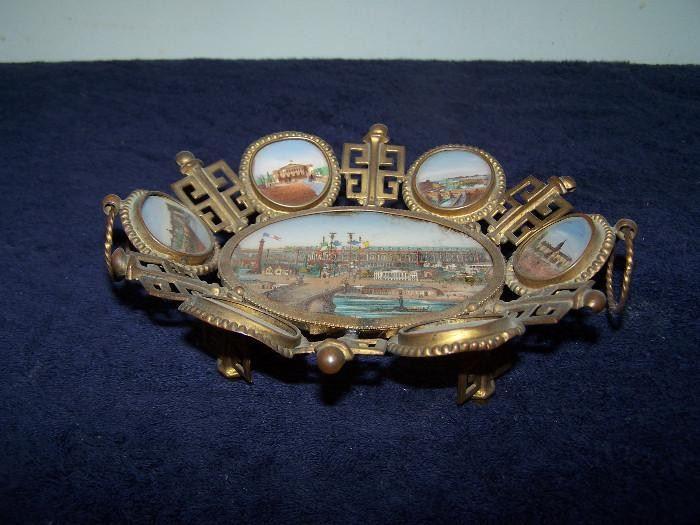 19th Century Eglomise French Souvenir Bowl