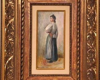 Original Oil Painting by PierreAuguste Renoir Jeune Paysanne