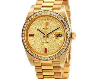 Lot 277 Rolex Presidential Watch with Diamonds