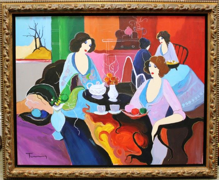LOT 665Original Tarkay Oil Painting