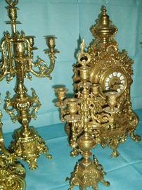 Mantel Clocks with Garniture Sets