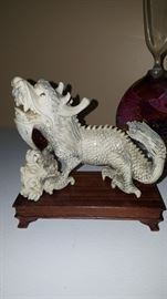 One of A Pair of Pre-Ban  Ivory Foo Dogs