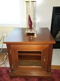 End table, electronic cabinet $50 available now!