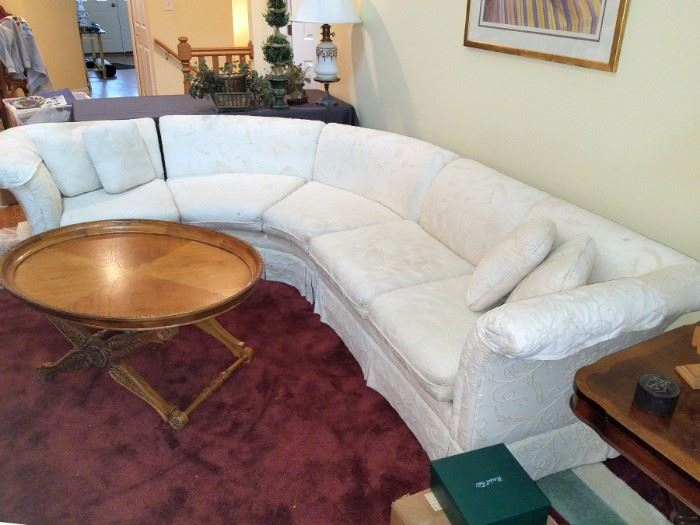 White sectional sofa $100 available now!